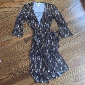 Diane von Furstenberg vintage silk wrap dress